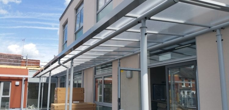 Canopy we made for EP Collier Primary School