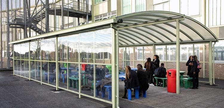 Dining shelter we designed for Our Lady's RC School