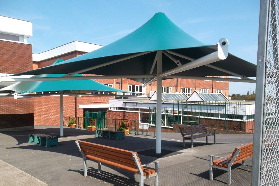 Green Fabric Umbrella Canopies