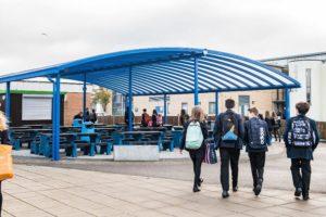 Tewkesbury School Dining Area Canopy