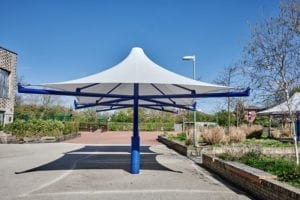 Fabric canopy fitted at The Willow School