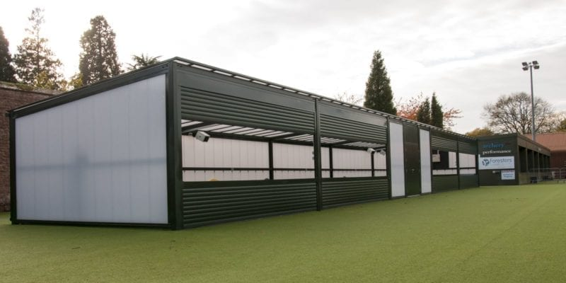 Canopy we designed for Archery Team GB