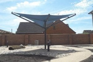 Shade sail designed for Avonmere Care Home