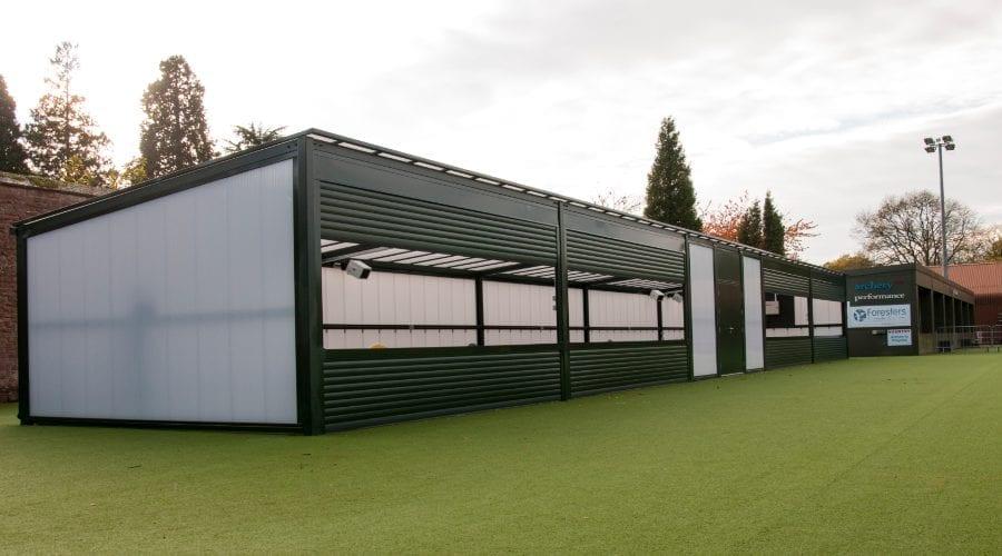 Bespoke shelter we designed for Archery GB