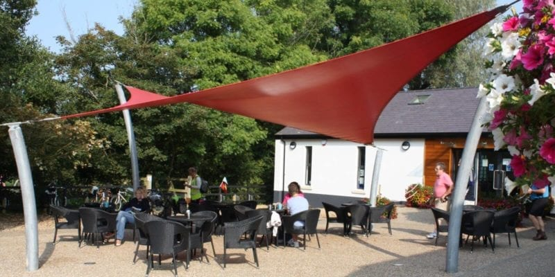 Red Cafe Shade Sail