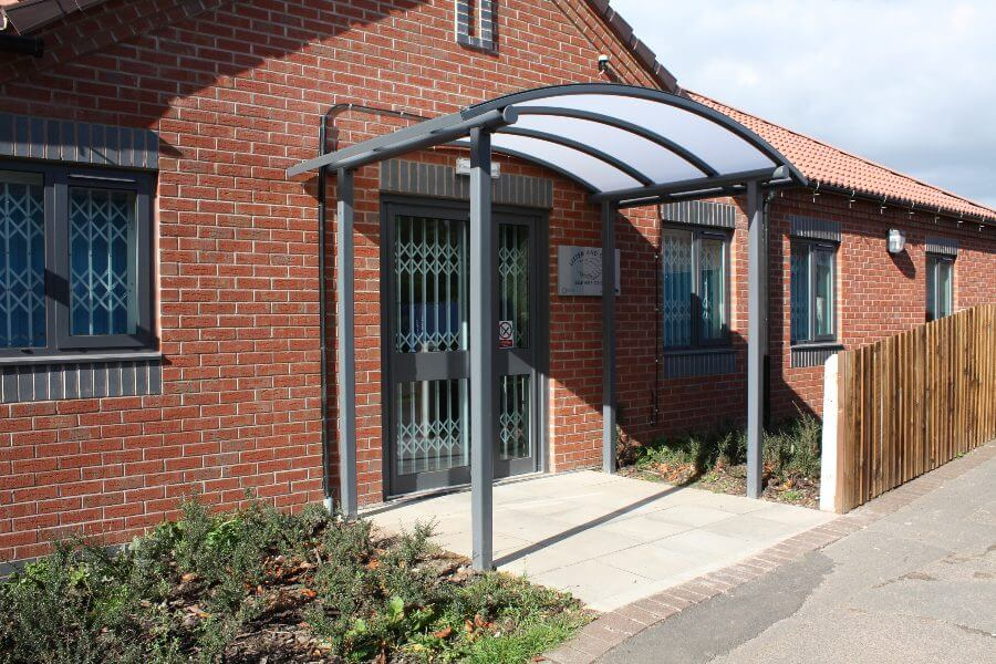 Curved Roof Entrance Canopy