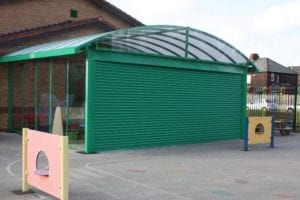 Ditton Primary School Enclosed Canopy