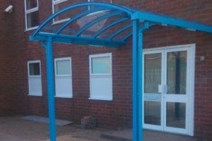 Canopy we fitted at DMS Chromium Plating Ltd