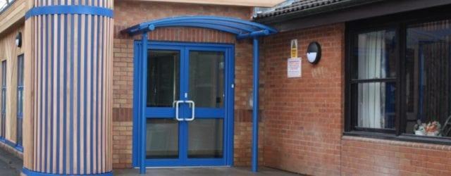 Entrance canopy we designed for Randlay Primary School