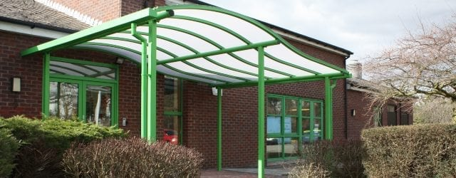 Entrance canopy we designed for Loughborough Primary School