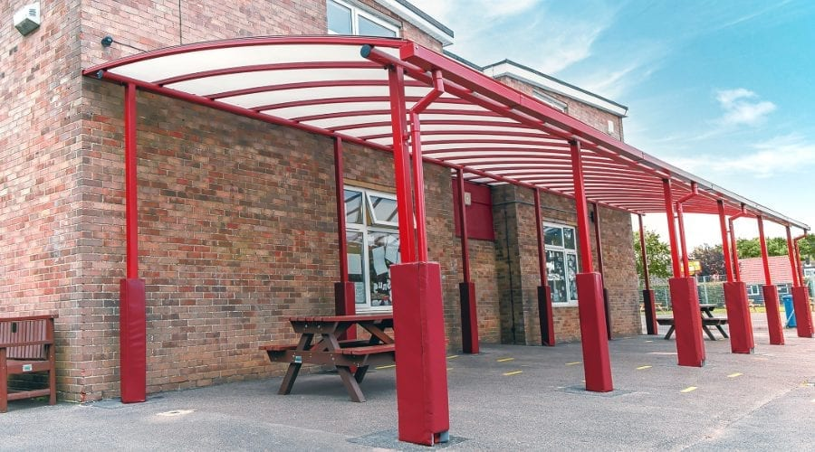 Freestanding canopy we designed for Covingham Park Primary School