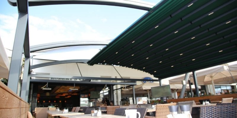 Green Retractable Canopy
