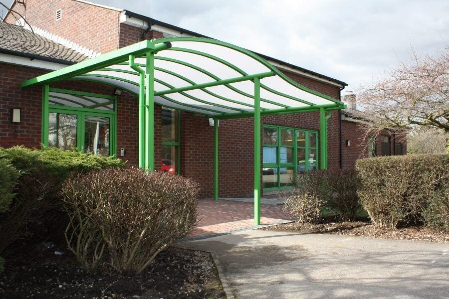 Green Wave Roof Entrance Canopy