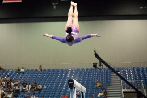 Gymnast Performing Routine