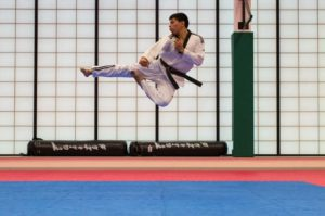 Man Practicing Judo