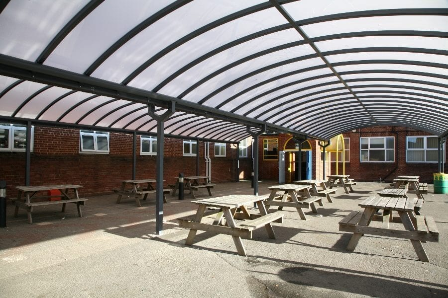 Kingsbury School Dining Area Shelters