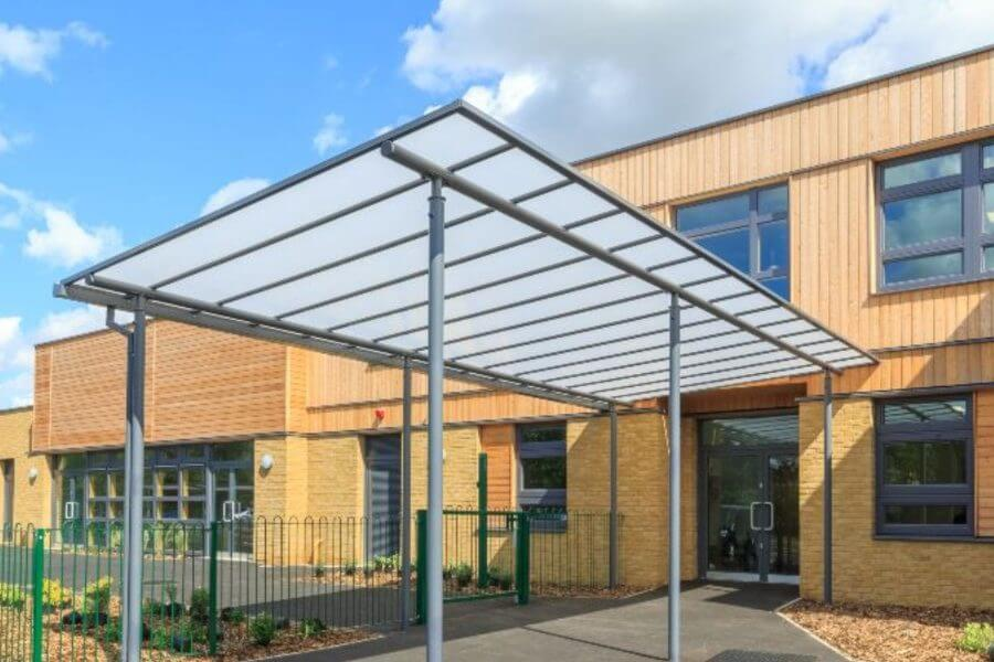 Simon Balle School Entrance Canopy