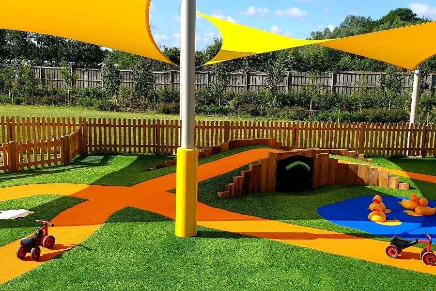 Canopy we installed at Sprouts Play Barn