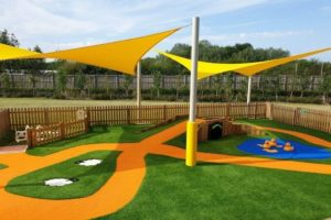 Sprouts Playbarn Play Area Shade Sails