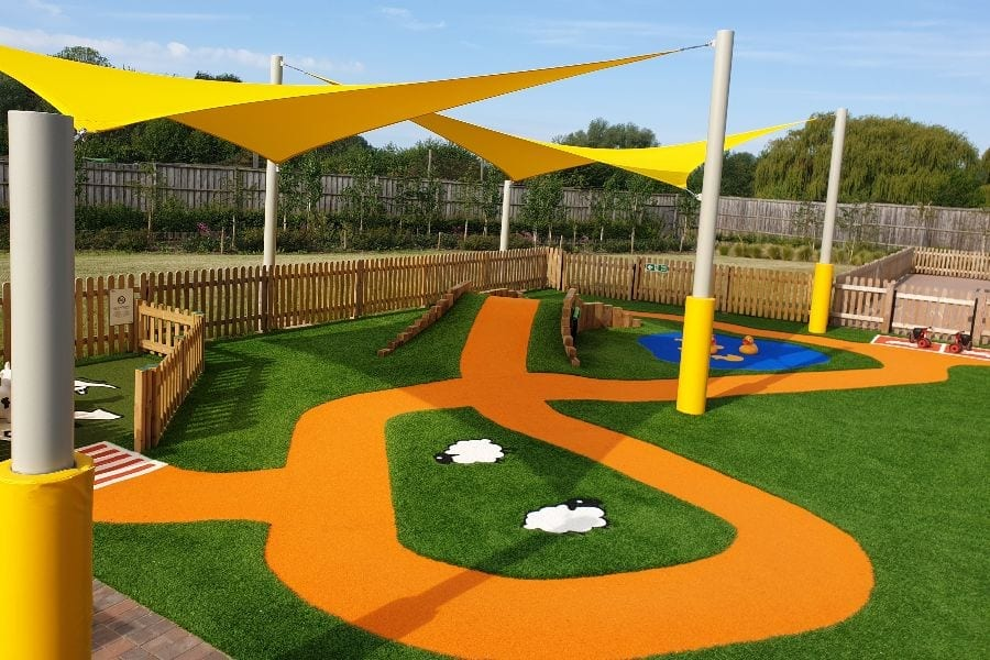 Shade Sail we installed at Sprouts Play Barn