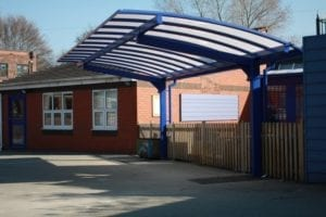 Canopy we installed at St John's Primary School