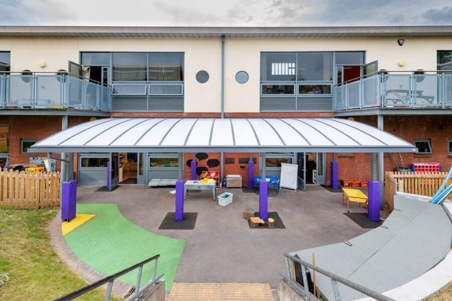 St Sidwells School Playground Canopy