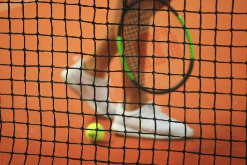Player holding a tennis racket