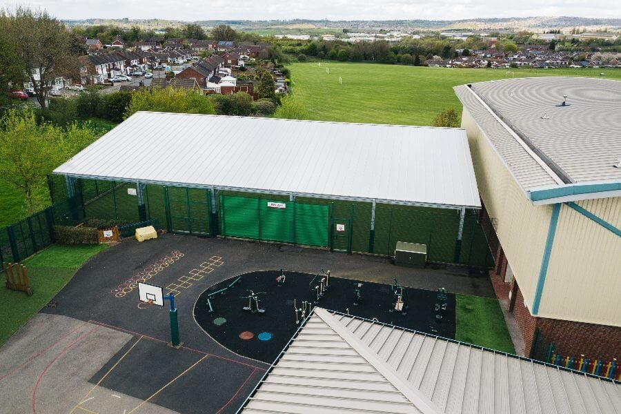 The Brier School Covered MUGA Shelter