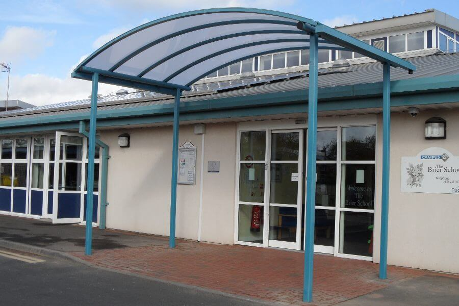The Brier School Green Entrance Canopy