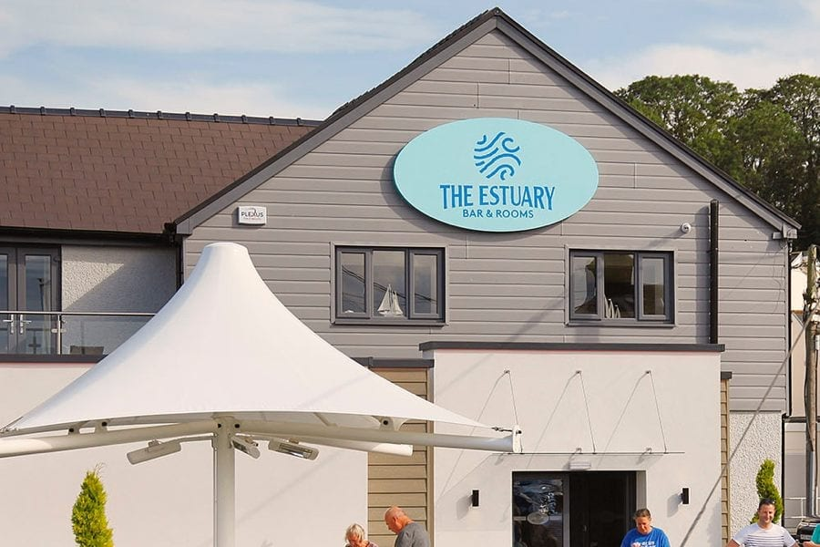 Umbrella canopy we made for The Estuary Restaurant