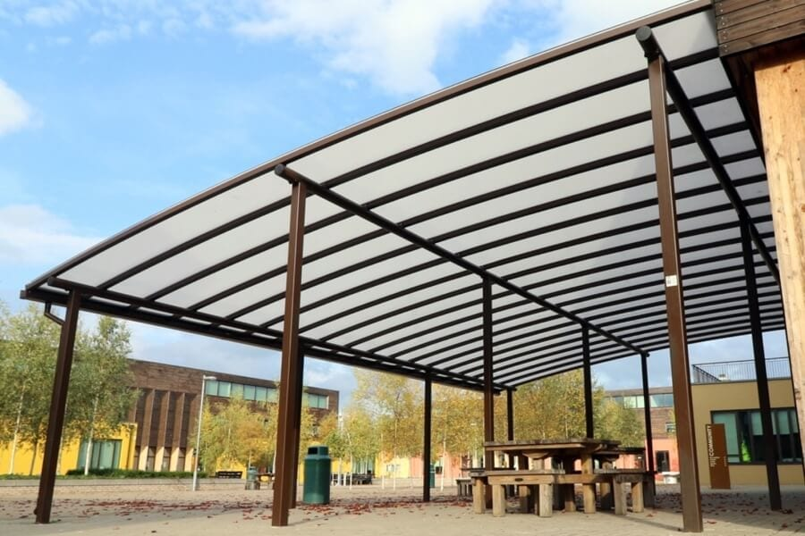 Waingels College Curved Roof Canopy