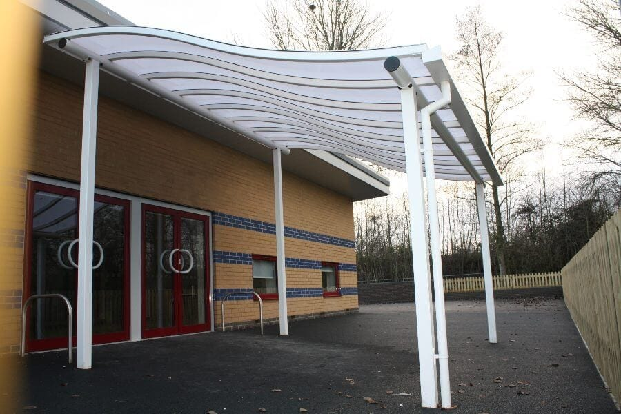 White Waved Roof Canopy