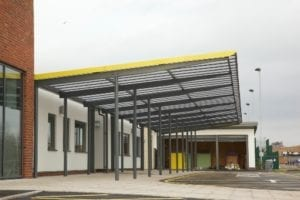 Shelter we installed at Ashmount School