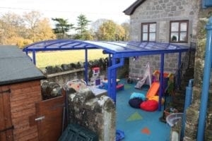 Shelter we installed at Clive C of E Primary School