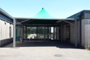 Canopy we designed for Greentrees Primary School