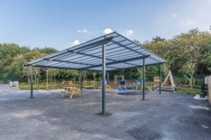 Shelter we designed for Millbrook School
