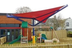 Shade sail installed at Newlands Nursery