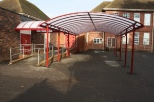 Shelter we designed for Sir John Talbot's School