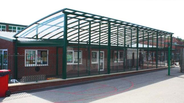St Cuthbert's School Enclosed Canopy