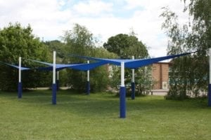 Shade sails we fitted at St Marys Bluecoat School