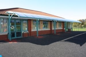 Shelter we fitted at St Peter and Pauls School
