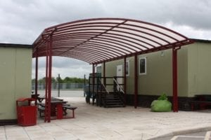 Shelter we fitted at St Peter's Catholic High School