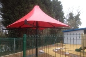 Umbrella we installed at Thakeham Preschool