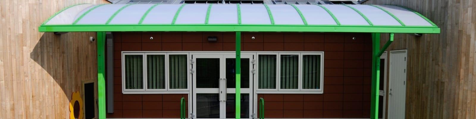 Ysgol Bro Alun Cantilever Shelter