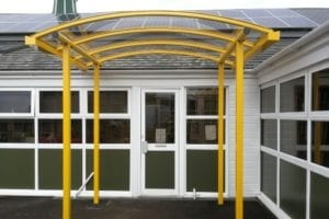 Canopy added to Weston Rhyn School