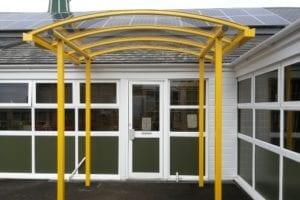 Canopy added to Weston Rhyn School