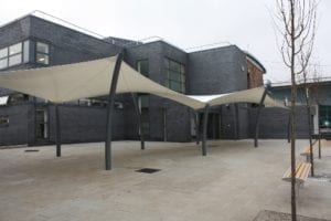 Canopy we designed for Winstanley College