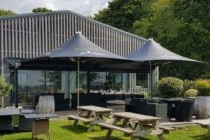 Black Fabric Parasol Canopies