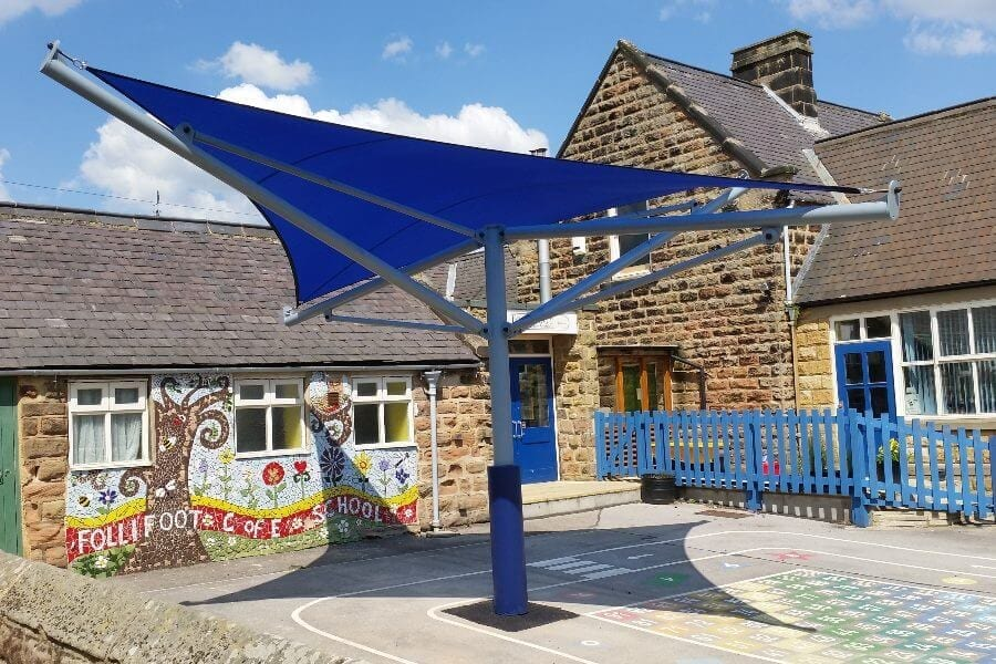 Blue Playground Shade Sail