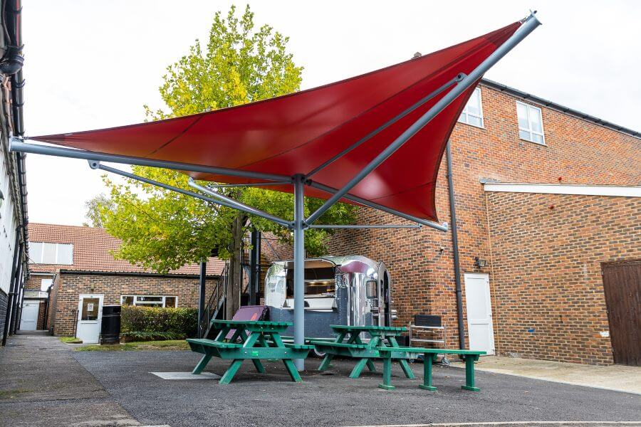 Fabric canopy we designed for Hillview School for Girls